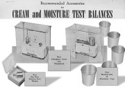 Accessories for cream and moisture test balances