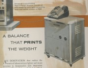 A balance that prints the weight
